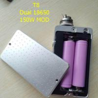 New popular T8 box mod 150w chip e Ecigarette fit ego ce4 510 Atomizer Double 18650 Battery 150w T8 Box Mod power bank Manufactures