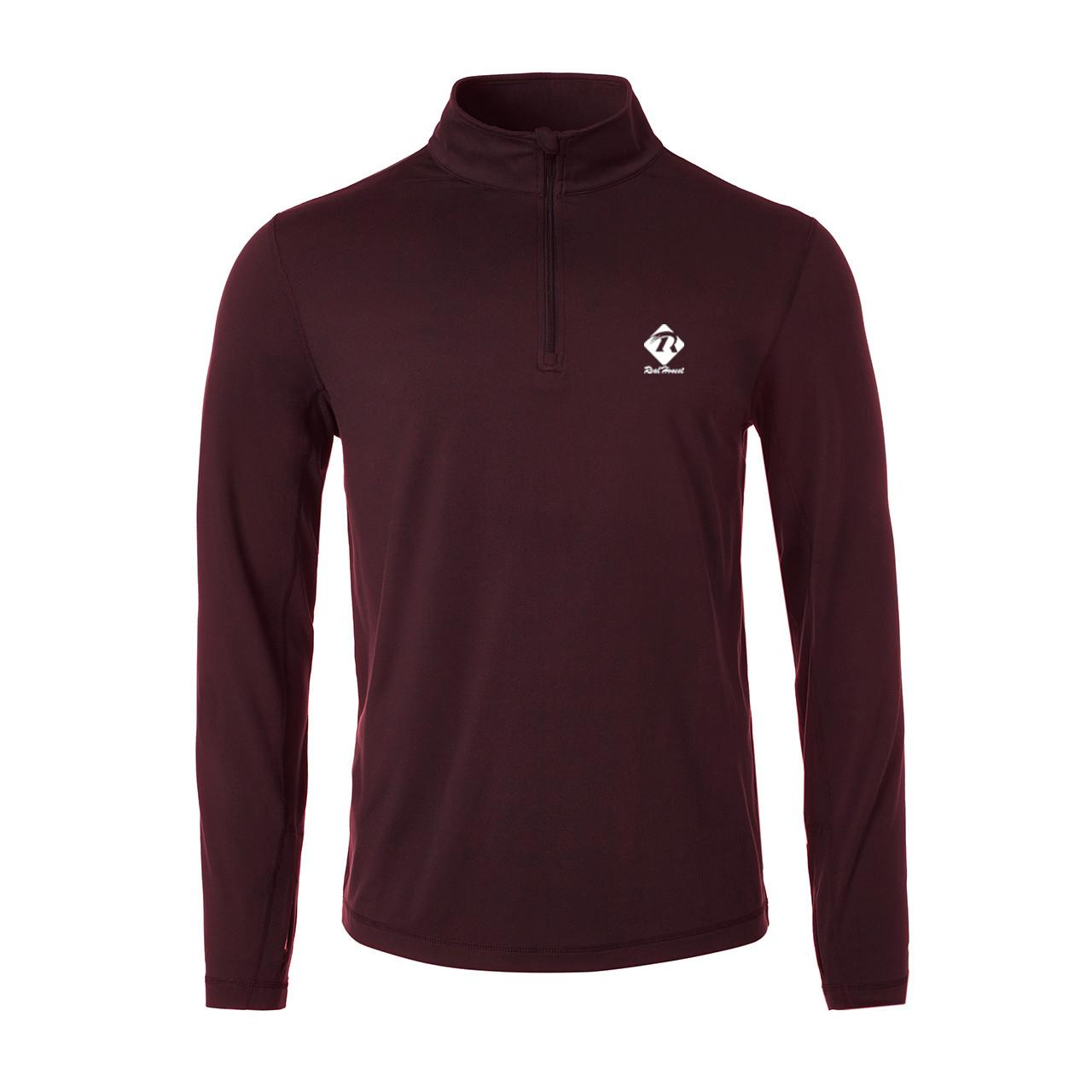 Quality Mens 2016 winter long sleeve 1/4 zip cotton polyester fleece sweater for sale