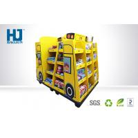 Truck Shape Cardboard Floor Display Stands Customized Size For Stationery / Toys Manufactures
