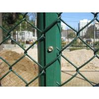 Green PVC 4 Inch Chain Link Wire Mesh diamond fence for Basketball Court Manufactures