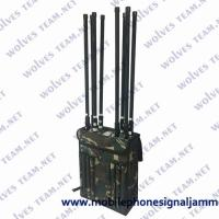 Buy cheap 80 Watt Backpack Jammer 50-150 Meters Range External High Gain Omni Directional from wholesalers