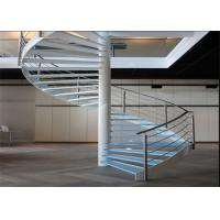 Carbon Steel Glass Custom Spiral Staircase Customized Size DIY Installation Manufactures