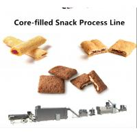 100~500 kg/Hr Snack Food Production Line Chocolate Ball / Chocolate Pillow Filled Puff Manufactures