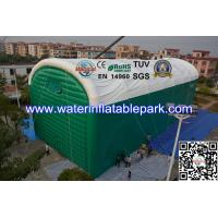 Green Custom Giant Inflatable Lawn Tent / Inflatable Marquee Tent For Garage Manufactures
