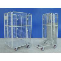 Supermarket Wire Mesh Cart Durable Galvanized Rolling Hand Trolley Cart Manufactures