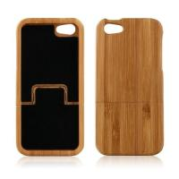 Cheap Handmade Real Bamboo Wood Cell Phone Cases Back Hard Case Cover for iPhone 5 for sale