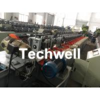Octagonal , Octagon Pipe Roll Forming Machine for Rolling Shutter Axes With Manual Decoiler / Uncoiler Manufactures