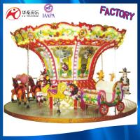 High quality luxury coin operated kids Merry-go-round carousel for sale 12 seats Manufactures