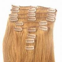 Human Hair Clip Weft, Available in Silky Straight/Curly Style and Various Sizes/Colors Manufactures