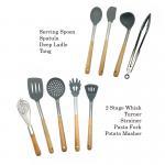 Non Fading Spatula Kitchen Tools , Non - Stick Silicone Spatula Spoon Set Manufactures