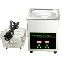 China Stainless Steel 304 Digital Ultrasonic Cleaner For Watches Silver Jewelry Lens Eyeglass on sale