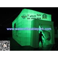 Double Layer Inflatable Lighting Tent / LED Inflatable Cube Tent , Waterproof Manufactures