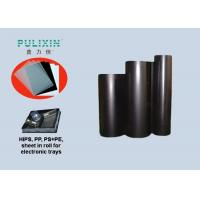 Polymer Black Printing Plastic Sheets Polystyrene Sheet Roll With Low Density Manufactures