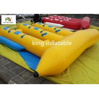 Customized 6 Seater Inflatable Sport Fly Fishing Boats Yellow Durable Manufactures