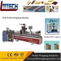 China UPVC Window and MDF Door frame Profile wrapping machine on sale