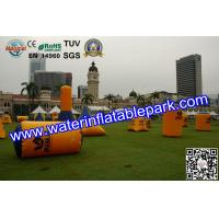 PVC Inflatable Paintball Bunker BUN51 With Durable Plastic Ground Stakes Manufactures