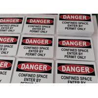 """Danger Confined Space Safety Aluminum Metal Signs 10""""X7"""" For Industrial Notices Manufactures"""