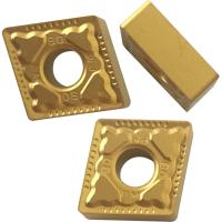 CNMG Yellow And Black Coated CNC Turning Inserts For Machnical Parts Semi Finish Process