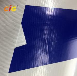 500gsm 100% Pvc Flex Plastic Tarpaulin With Glass Fiber For Truck / Tent Manufactures