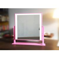 China Double Color Portable Vanity Illuminated Makeup Mirror With  Touch Switch on sale