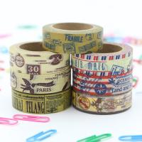 China Decorative Thin Gold Washi Tape Rolls Rice Paper Heat Resistant Craft Art Package on sale