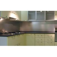 Solid Backsplash Tempered Glass Panel Easily Clean The Stains Manufactures