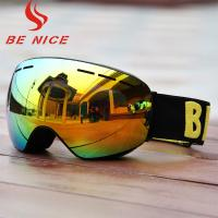 Fashionable Mirror Lens Snow Goggles , Interchangeable Snowboard Goggles