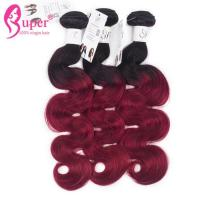 Neat Blonde Ombre Hair Extensions , Black To Red Ombre Color Wefts With Afro Short Hair Woman UK Manufactures