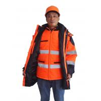 China 5 In 1 Hi Vis Winter Work Jackets, Winter Safety Jackets ReflectiveWith PU Waterproof on sale