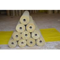 Low Dust Rockwool Pipe Insulation , Mineral Wool Thermal Insulation Pipe Manufactures