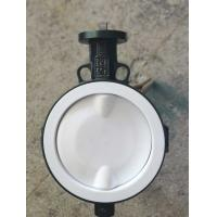 White And Blue  PTFE lined butterfly valve ,  Ptfe Seat Butterfly Valve   Headless  Type DN40 - DN150 Size Customized Manufactures