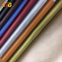 Shiny / Pearlized PU Synthetic Leather 140cm Width For Sofa Furniture Manufactures