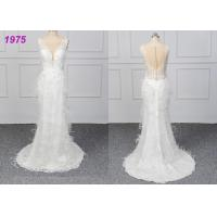 Strapless Luxury A Line Ball Gown Wedding Dress , White Ball Gown Dress Manufactures