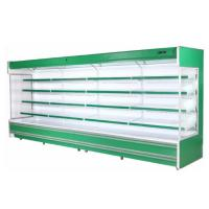 Commercial Hypermarket 3m Fruit Vegetable Open Display Cooler Manufactures