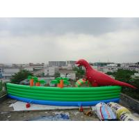 Amazing Giant PVC Inflatable Water Parks for Outdoor Summer Water Games 30m Diameter Manufactures