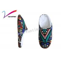 Graffiti Color Ladies Mule Slippers / Bedroom Slippers For Women Manufactures