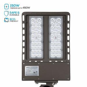 Industry Parking Lot Pole Light Fixtures Led  / 150w Led Shoebox 5000k Manufactures