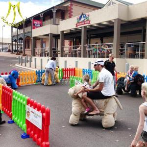 China Hansel battery motorized plush riding battery powered ride on animal on sale