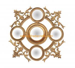Elegant Design Resin Decorative Wall Mirror, Hand Made Antique Gold Iron Art Mirror (FR-15131) Manufactures