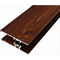 Customized Furniture Aluminium Profiles , Wood Grain Finished T Slot Aluminum Framing Manufactures