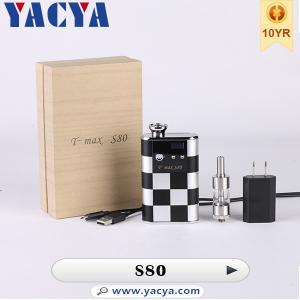 5000mah Variable Voltage E Cigarette Tmax S80 E Cig Mod , No tar Manufactures