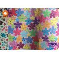 Non Woven Printed 100% Pure White Polyester Felt Fabric For Kids Playing Manufactures