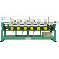 "Professional 5"" LCD Monitor 9 Color Tubular Embroidery Machine , 6 Head Manufactures"