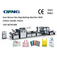Cheap Multi Function Auto Non Woven Box Bag Making Machine With Handle Fix Device for sale