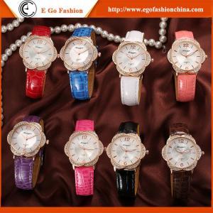 Woman Watch Luxury Imitation Diamond Watch Rose Flower PU Leather Watch Female Wristwatch Manufactures