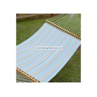 Weather Resistant Single / Two Person Hammock With Spreader Bar And Stand Ocean Stripe Manufactures