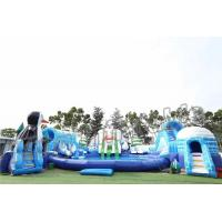 Adult Outdoor Inflatable Water Parks , Pool Obstacle Course Play Equipment Manufactures