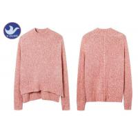 Wool Mohair Melange Womens Knit Pullover Sweater High-Low Side Slit Winter Jumper Manufactures
