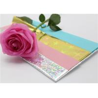 Waxed Tissue Paper With PET Holographic Film 50 X 70CM To Wrap Presents Manufactures