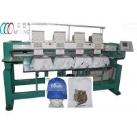 Flat bed Computer four Head 9 Needle Embroidery Machine For Leather Clothing Manufactures